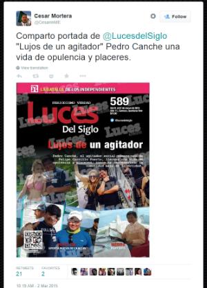 Cesar Mortera on Twitter Comparto portada de LucesdelSiglo Lujos de un agitador Pedro Canche una vida de opulencia y placeres